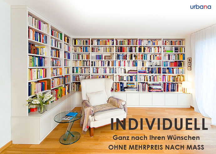 bibliotheken individuelle systeme nach ma urbana m bel. Black Bedroom Furniture Sets. Home Design Ideas